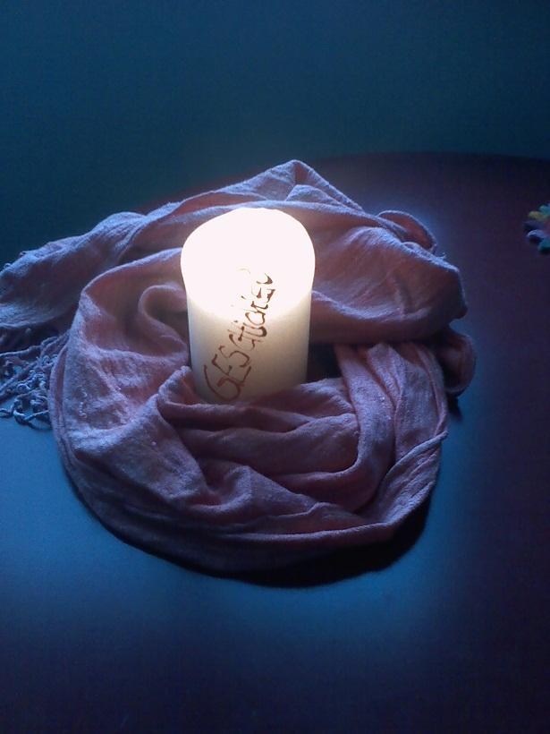 Kerze Lichtfest